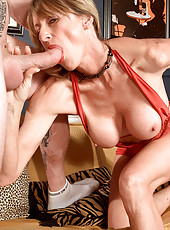 Hot granny gets fucked by huge cock