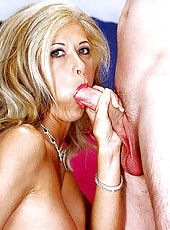 Leslie Laroux gaggling big cock action