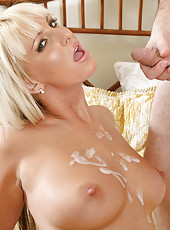 Charming blonde Anilos adores sucking and riding a thick piece of man meat