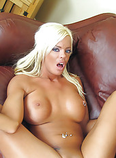 Hot milf Jordan Blue gets her pussy rammed by a hard cock on the couch
