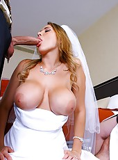 Super hot big tits babe gets fucked at her wedding after her groom passed out  in the aile in these hot reality fuck pics