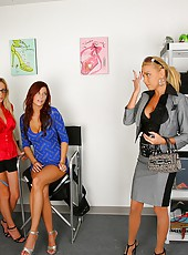 2 smoking hot ass mini skirt big tits babes share 1 huge dong in these hot dressing room fucking 3some cumfaced pics and big hd movie