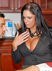 Check out this hot bit tits business babe get fucked and creamed in the office after hooking up with a million dollar man