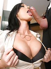 Sexy executive babe lauren get her hot body pounded hard by her employee in her office in these hot pics