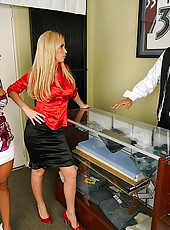 Hot horny executive sluts show how to use their hornly power