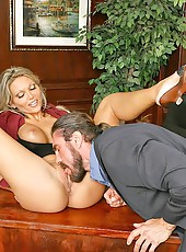 Amazing ana does anal  in these office sex