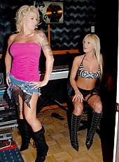 2 amazing milf babes get together in the audio studio for a new song and end up fucking their hot vixen boxes in these hot reality fuck pics