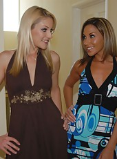 These amazing milfs and super hot blondie xchange some pussy muching and dildo fucking in these streamy lesbo pics