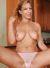 45 year old housewife Rachel strips and spreads her pussy just for you