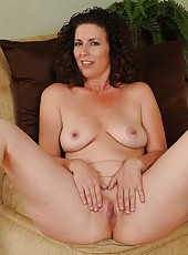 Beautiful mature brunette housewife