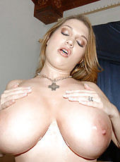 Cum check out the juicy rack on this hottie as she shows off the puppies for us