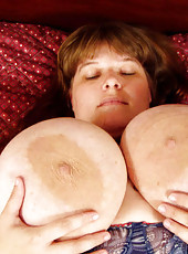 Natural extreme titties watch these titties bouce up and down like watermelons