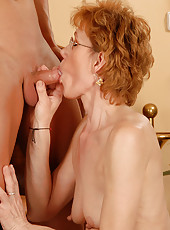 Georgina C takes a young mand hard cock deep inside of her