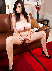 30 year old Michelle B from AllOver30 works her big titties and pussy