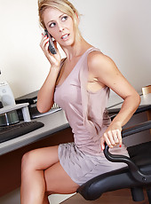 32 year old secretary Cherie Deville putting on a hot show in here