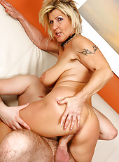 At 52 years old Berna still loves a long hard cock deep inside of her