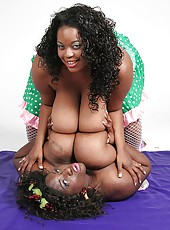Simone getting nasty with massive jugged friend