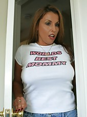 Neighborhood MILF Stacie Starr peeks in and sees Jimmy jerking off his massive cock as he begs her to join in. She reluctantly agrees but what she doesnt realize is the whole thing is secretly taped