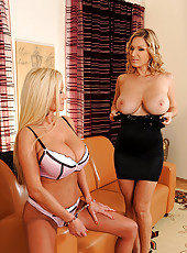 Strap-on sex of Carol & Sharon Pink