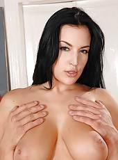 Hot busty Carmen Croft titty fucked