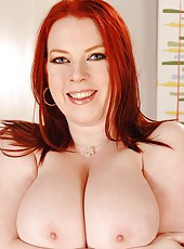 Busty redhead trying out lage bras