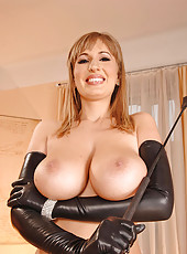 Beautiful busty Edo in latex outfit