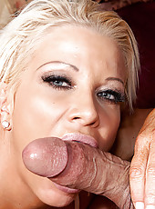 Hot mature busty blonde takes it like a pro