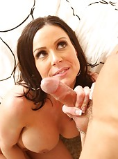 Sexy hot busty MILF seduces her son