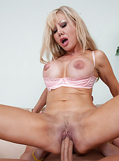 Horny mature blonde cant get enough of this cock