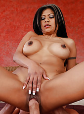 Hot latina MILF Gabby Quinteros has rough sex with younger guy.