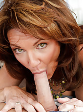 Horny Cougar Deauxma gives the furniture guy a tip; A steamy blow job, fuck and anal sex!