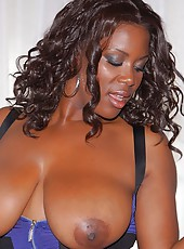 Extreme big titty black babe dolce shows her sucking skills then gets her wet bikini black box rammed hard in these white cock black pussy fuck pics