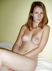 Lovely amateur wife in their honeymoon