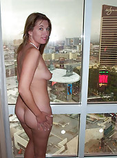 Naked hot MILF on a vacation