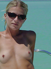 Hot MILF wild on a yacht