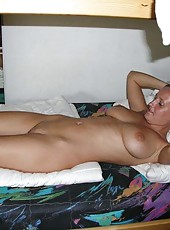 Heavy chested naked housewife