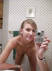 Naughty sexy housewife with camera