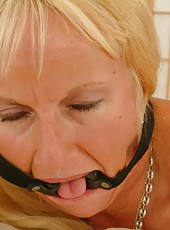 Vicious granny enjoys being tied and humiliated