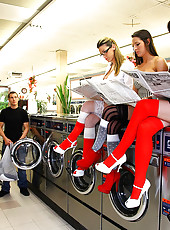 Amazing kortney kane nailed hard adjacent a washing machine hot group sex reality fucking pics
