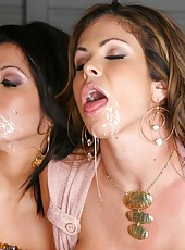 Amazing milfs take on a dong from a glory hole then squirt and masterbate in these hot frenetic pics