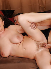 Horny cocklover matron fucking with her lover boy