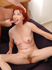 Redhead mature is in fucking and sucking scenes