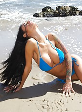 Ok, I put this hot lil blue bikini on & started posing for my