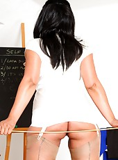 School Mistress Danica knows how to control an unruly class