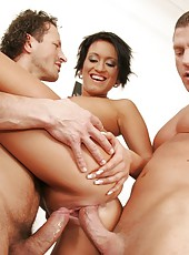 Carmen Sucks And Fucks Two Young Hung Studs