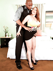 The Creamy Redhead & The Black Buttmaster