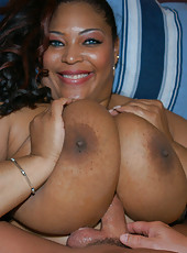 This ebony babe has the biggest tits ive ever seen in my life