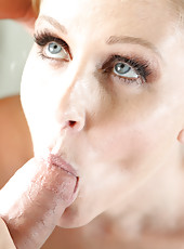 Julia Ann prepares for a sweet shower fuck.
