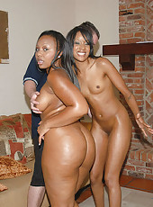 Check out these two two hot hot round brown mamas geting slammed