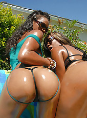 Check out this smokin sexy ebony lesbian duo watch as they get fucked and fuck eachother